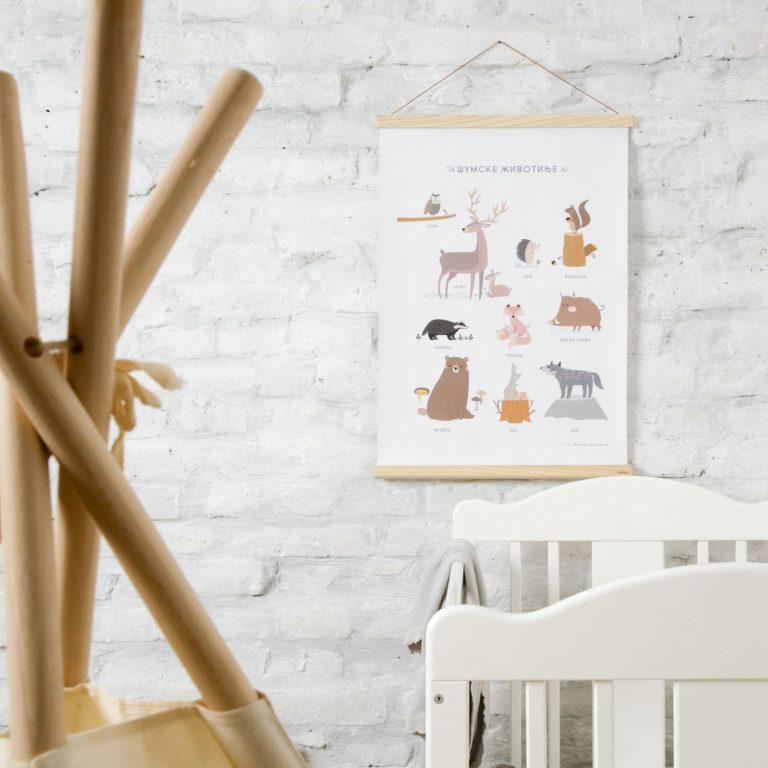 poster-za-decu-šumske-životinje