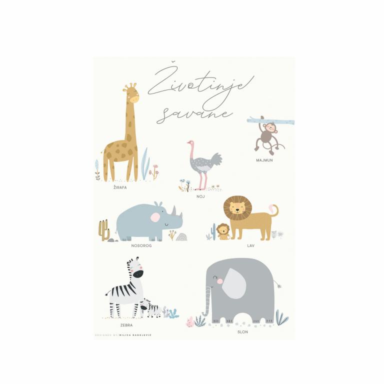 poster-za-decu-zivotinje-savane